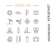 summer icons set for summer... | Shutterstock .eps vector #419187457