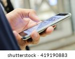 communication technology ... | Shutterstock . vector #419190883