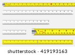 rulers and tape measures with... | Shutterstock .eps vector #419193163