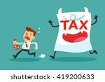 illustration of businessman... | Shutterstock .eps vector #419200633