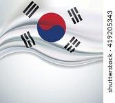 vector of south korea flag... | Shutterstock .eps vector #419205343