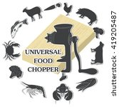universal food chopper  meat... | Shutterstock . vector #419205487