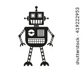 robot icon isolated on white... | Shutterstock .eps vector #419222953