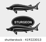 sturgeon set. vector | Shutterstock .eps vector #419223013