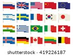 flags icons in flat style.... | Shutterstock .eps vector #419226187