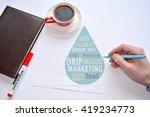 drip marketing. lead nurturing | Shutterstock . vector #419234773