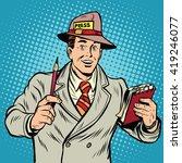 positive retro journalist... | Shutterstock .eps vector #419246077