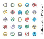 communication cool vector icons ... | Shutterstock .eps vector #419253577