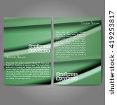 vector brochure template design ... | Shutterstock .eps vector #419253817