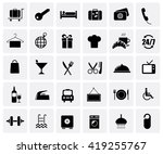hotel icon set isolated on... | Shutterstock . vector #419255767