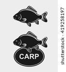 carp set. vector  | Shutterstock .eps vector #419258197