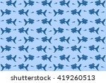 fish pattern background | Shutterstock .eps vector #419260513