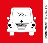 ambulance isolated design  | Shutterstock .eps vector #419263147