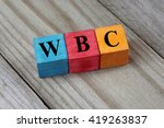 wbc  white blood cells  acronym ... | Shutterstock . vector #419263837