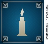silver tangram candle on dark... | Shutterstock .eps vector #419264353