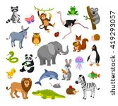 set of cartoon animals | Shutterstock .eps vector #419293057