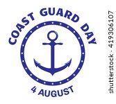 coast guard day greeting card.... | Shutterstock .eps vector #419306107