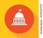 white house  congress icon  | Shutterstock .eps vector #419310727