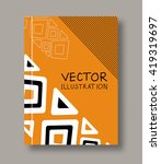 geometric ethnic abstract... | Shutterstock .eps vector #419319697