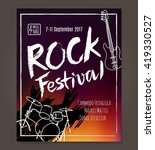 rock event poster or flyer... | Shutterstock .eps vector #419330527