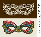 festive masks. vector mask... | Shutterstock .eps vector #419331553