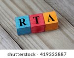 Small photo of RTA (Renal Tubular Acidosis) acronym on wooden background