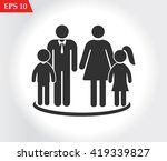 family vector icon | Shutterstock .eps vector #419339827