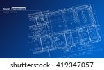 abstract architectural... | Shutterstock .eps vector #419347057