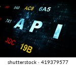 software concept  pixelated... | Shutterstock . vector #419379577