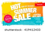 hot summer sale template banner | Shutterstock vector #419412433