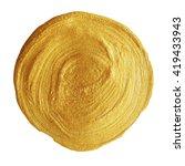 golden spot. circle background  ... | Shutterstock .eps vector #419433943