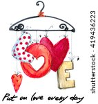love. valentine day card.  | Shutterstock . vector #419436223