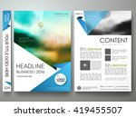 brochure design template vector.... | Shutterstock .eps vector #419455507