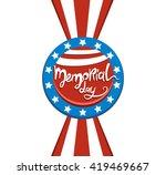 happy memorial day lettering.... | Shutterstock .eps vector #419469667