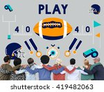 play quarterback rugby american ... | Shutterstock . vector #419482063