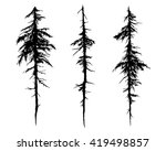tree silhouettes vector | Shutterstock .eps vector #419498857