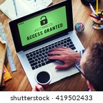 access granted anytime... | Shutterstock . vector #419502433