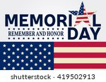 Stock vector happy memorial day greeting card vector illustration 419502913