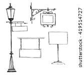 street signs  sketch isolated... | Shutterstock .eps vector #419514727