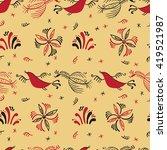 vector seamless pattern of hand ...   Shutterstock .eps vector #419521987