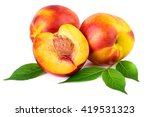 Nectarine Organic Fruits With...