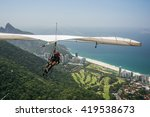 Hang Glider Taking Off From...