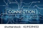 connection network online... | Shutterstock . vector #419539453