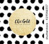 modern chic gold background... | Shutterstock .eps vector #419546557