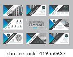 set of presentation template... | Shutterstock .eps vector #419550637