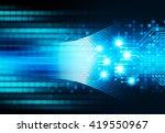 blue abstract hi speed internet ... | Shutterstock . vector #419550967