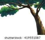tree for cartoon isolated on... | Shutterstock . vector #419551087