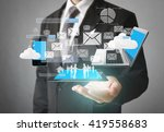 technology in the hands of... | Shutterstock . vector #419558683