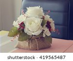 White Rose  Artificial Flower...