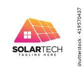 housing solar energy | Shutterstock .eps vector #419570437